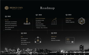 Hedge coin capital roadmap