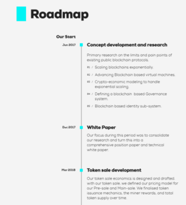 Roadmap part 1