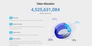 Cryptaur token distribution