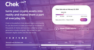 Chek by one  1 token sale
