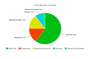 Token supply allocation
